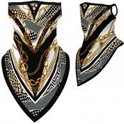 lovely Sportswear Print Gold Face Scarf