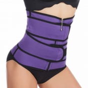 lovely Sportswear Zipper Design Purple Bustiers