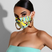 lovely Casual Print Dustproof Yellow Face Protecti