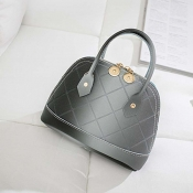lovely Stylish Zipper Design Dark Grey Crossbody Bag
