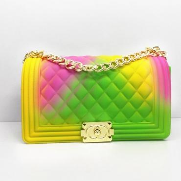 Lovely Stylish Chain Strap Green Crossbody Bag