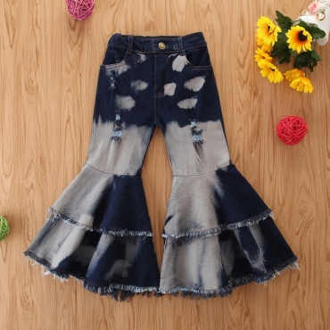 Lovely Stylish Patchwork Blue Girl Jeans