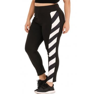 Lovely Sportswear Patchwork Black Plus Size Pants