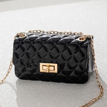 Lovely Chic Basic Black Messenger Bag