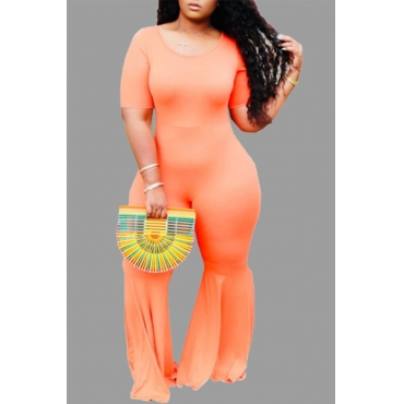 Lovely Leisure Skinny CrociPlus Size One-piece Jumpsuit