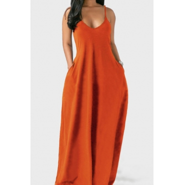 Lovely Leisure Pocket Patched CrociMaxi Plus Size Dress