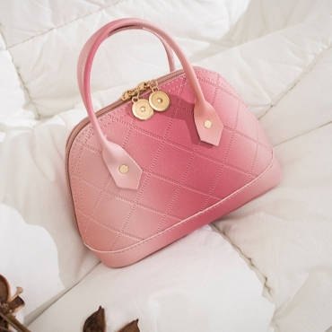 lovely Stylish Zipper Design Pink Crossbody Bag