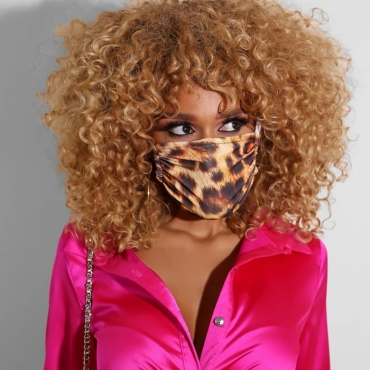 Lovely Casual Leopard Print Face Mask