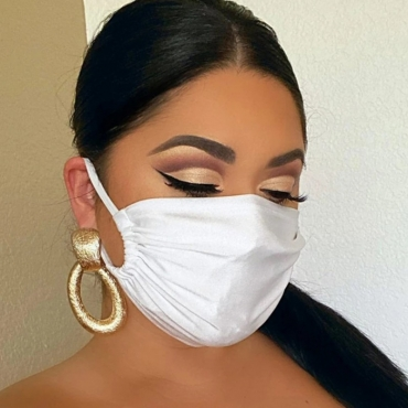 Lovely Casual Basic White Face Mask