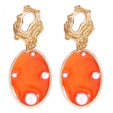 lovely Trendy Hollow-out Orange Earring