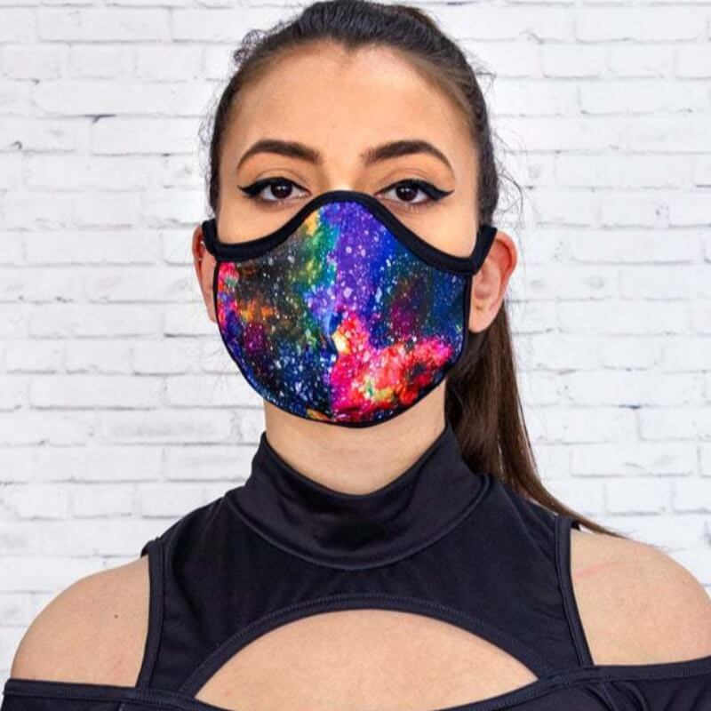 Face Scarf Lovely Stylish Print Dustproof Multicolor Face Protection фото