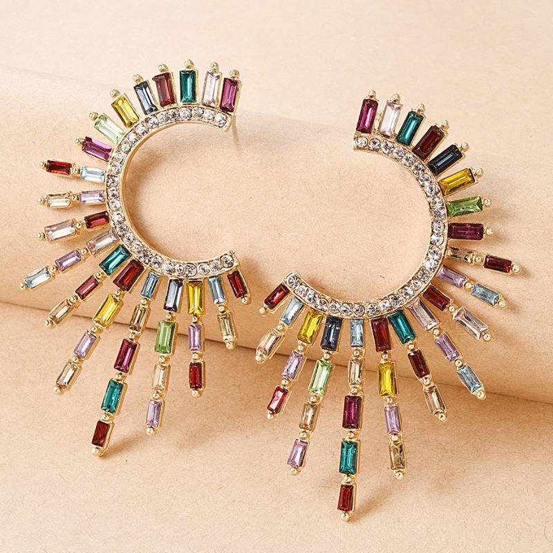 Lovely Trendy Rhinestone Decorative Multicolor Earring фото