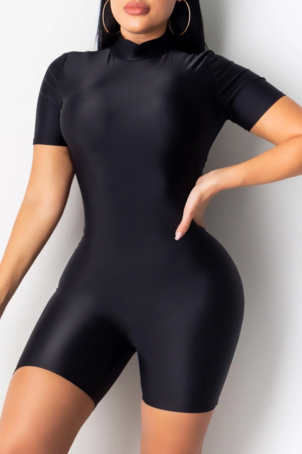 Rompers lovely Stylish Skinny Black One-piece Romper фото