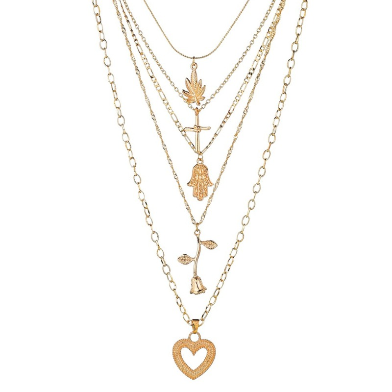 lovely Stylish Hollow-out Gold Necklace