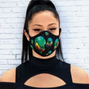 Lovely Stylish Print Dustproof Green Face Protecti