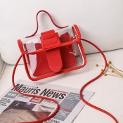 lovely Casual See-through Red Messenger Bag