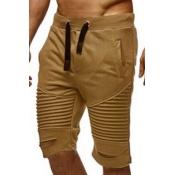lovely Sportswear Patchwork Khaki Shorts