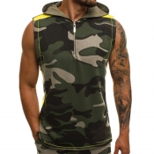 lovely Street Camo Print Army Green Vest