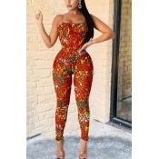lovely Trendy Print JacinthTwo-piece Pants Set