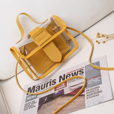 lovely Casual See-through Yellow Messenger Bag