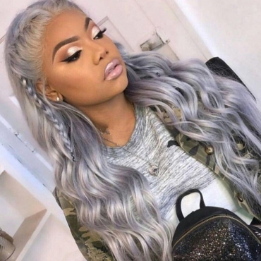 lovely Trendy Hign-temperature Silver Resistance Wigs