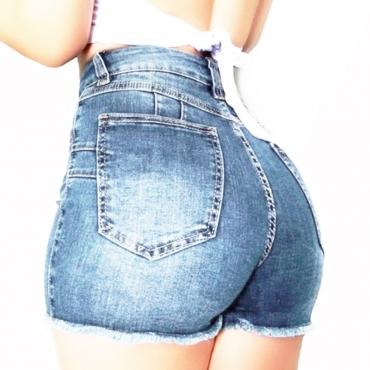 lovely Trendy Basic Baby Blue Denim Shorts