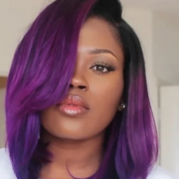 Lovely Stylish Bobo Purple Wigs