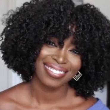 Lovely Stylish Short Curly Black Wigs