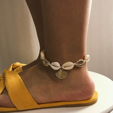 lovely Trendy Shell Silver Body Chain