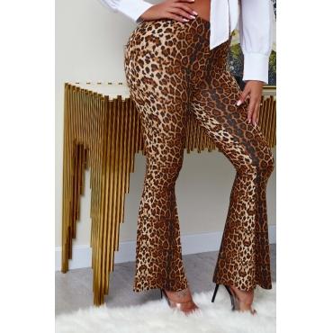 lovely Stylish Leopard Print Pants
