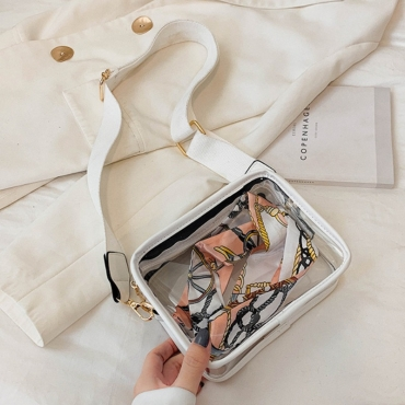 lovely Chic See-through White Crossbody Bag