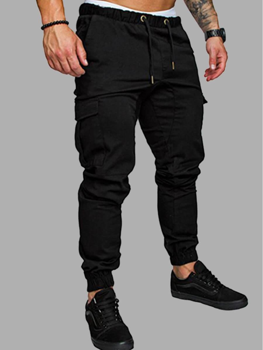 Pants/Capris Men lovely Casual Pocket Patched Black Pants фото