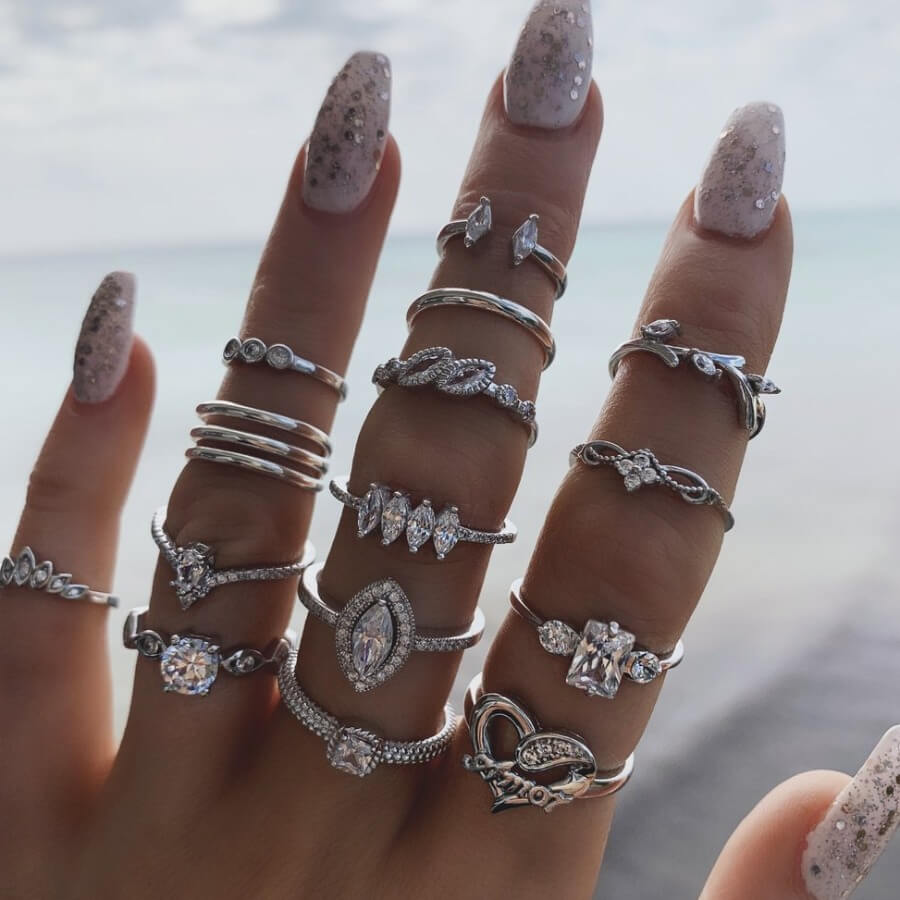 Lovely Street 15-piece Silver Ring фото