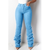 lovely Leisure Heap Baby Blue Jeans