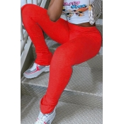 lovely Casual Skinny Red Leggings