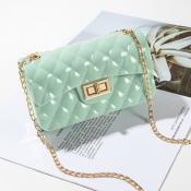 lovely Chic Basic Light Green Messenger Bag