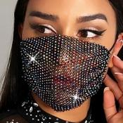 lovely Stylish Rhinestone Multicolor Face Mask