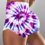 lovely Sportswear Tie-dye Purple Shorts