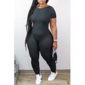 lovely Stylish Skinny Black One-piece Jumpsuit