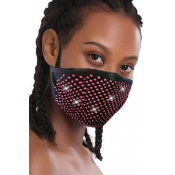 lovely Rhinestone Decorative Black Face Mask