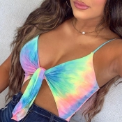 lovely Stylish Tie-dye Knot Design Multicolor Body