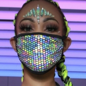 lovely Patchwork Black Face Mask