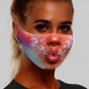 lovely Print Multicolor Girl Face Mask