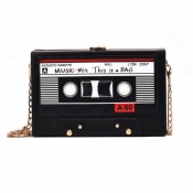 lovely Chic Radio Black Crossbody Bag