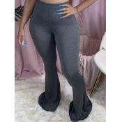 lovely Casual Basic Skinny Dark Grey Pants