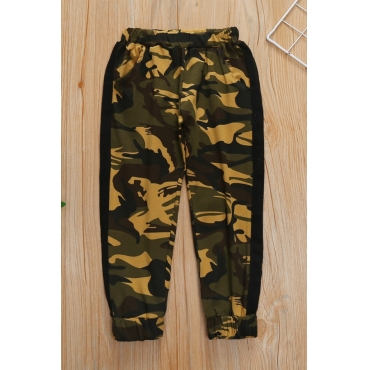lovely Casual Camo Print Boy Pants