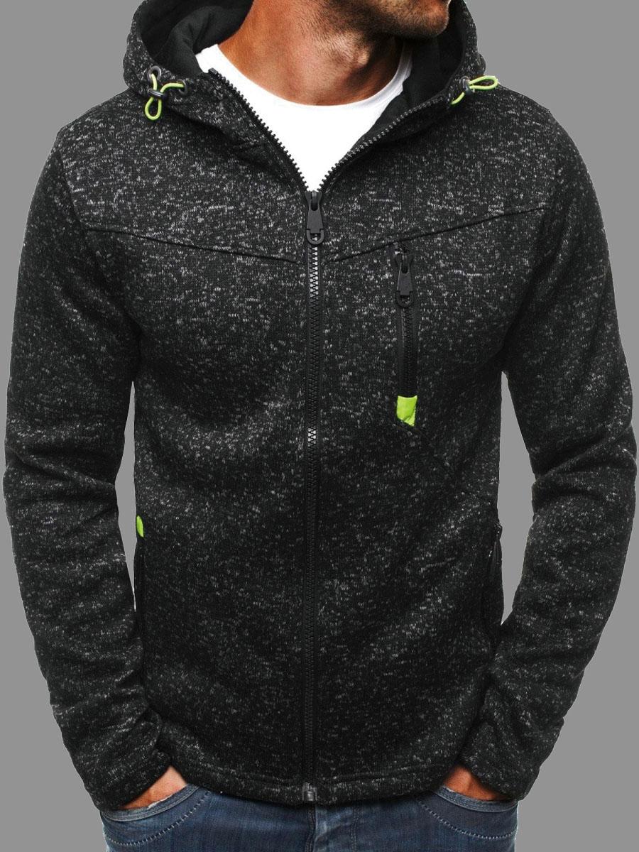 Hoodies Men lovely Sportswear Hooded Collar Zipper Design Grey Black Hoodie фото