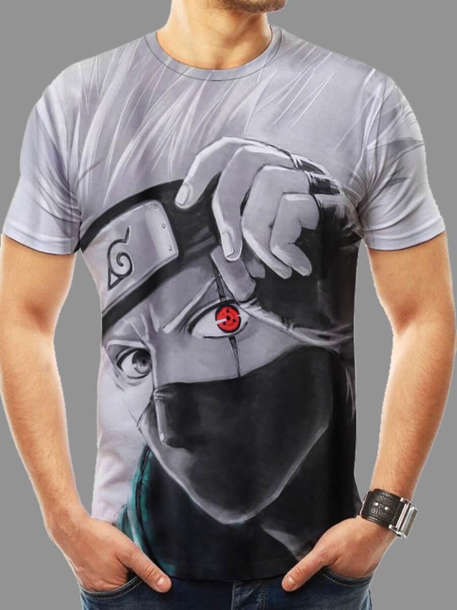 Men lovely Street O Neck Print White T-shirt фото