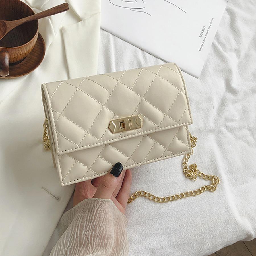 Messenger Bag&Crossbody Bag lovely Trendy Basic White Crossbody Bag фото
