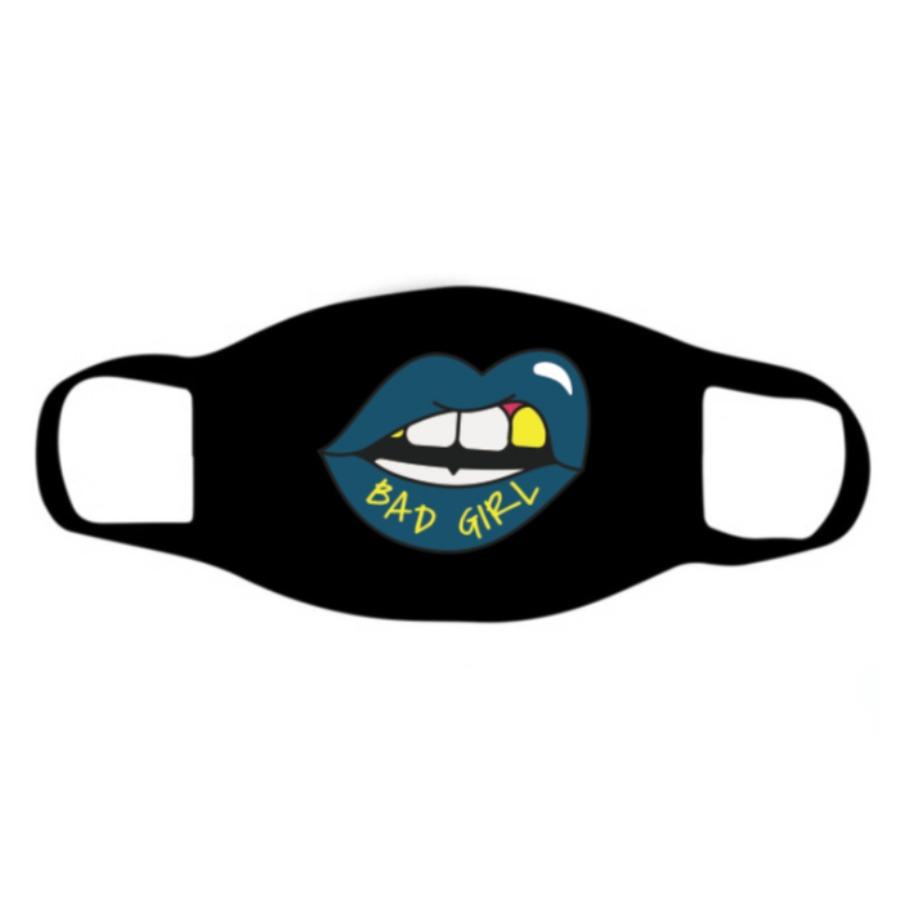 Lovely Lip Print Blue Face Mask фото